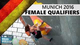 Munich Bouldering World Cup 2016 | Female Qualifiers by OnBouldering
