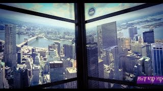 One World Trade Center Elevator Ride Show Animated New York Skyline From 1500s To Now - YouTube