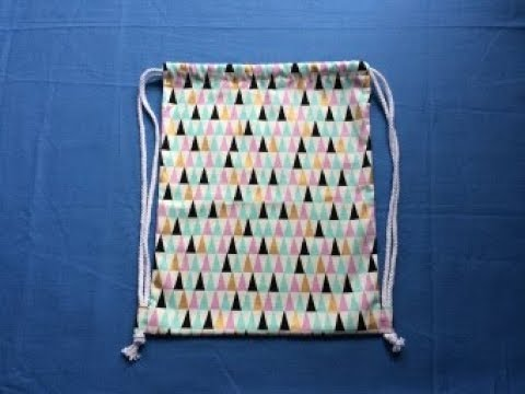 #DIY Drawstring Backpack | Coudre Un Sac | Bolsa De Bricolaje | 가방 | バッグ |Tutorial