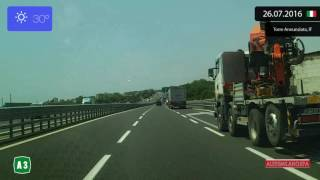 Torre Del Greco Italy  city photos : Driving through Campania (Italy) from Scafati to Torre del Greco 26.07.2016 Timelapse x4