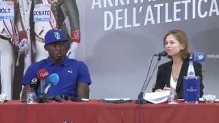Usain Bolt - Golden Gala Press Conference 2013