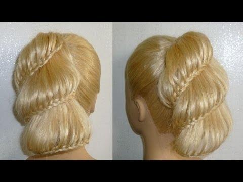 Zopf Frisuren.Flechtfrisuren.Ausgehfrisur/Abiballfrisur.High Bun Braid Updo Prom Hairstyles.Peinados
