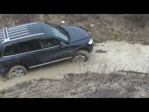 Hummer H2 & Touareg in Milovice military/tank training area, CZ, part 1 of 2, Full HD
