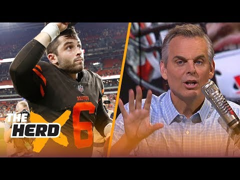 Colin Cowherd on Baker Mayfield's debut, Hue Jackson undecided on QB for Week 4  NFL  THE HERD
