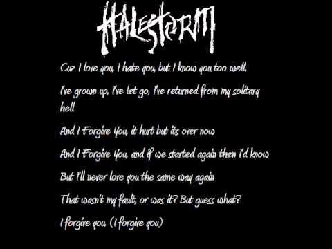 Tekst piosenki Halestorm - I Forgive You po polsku