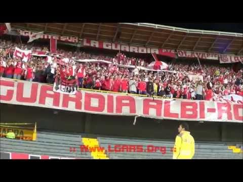 LA GUARDIA PTE - IND SANTA FE VS real garcilaso ! Copa Bridgestone Libertadores 2013 - La Guardia Albi Roja Sur - Independiente Santa Fe