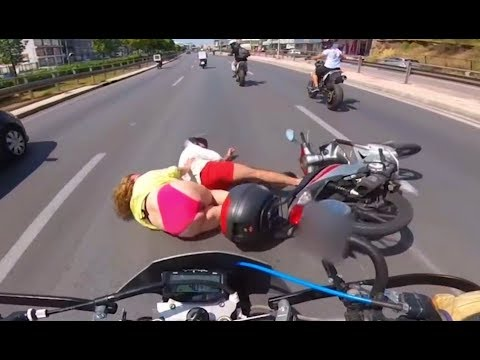 MOTORCYCLE CRASHES And MISHAPS | ROAD RAGE & BAD DRIVERS | MOTO Fails 2018 [Ep #48]