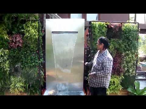 สวนแนวตั้ง+ม่านน้ำตกสำเร็จรูป ใช้พลังงานโซลาเซล์