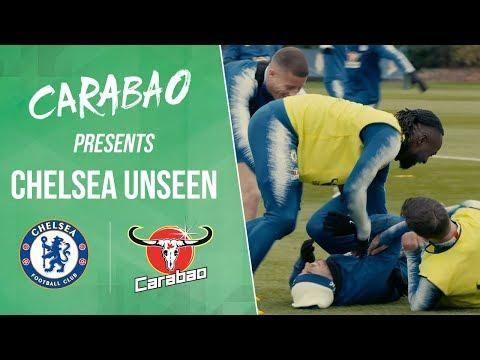 Video: Hilarious Nutmeg Celebs, Giroud Scored From Behind Goal   Chelsea Unseen
