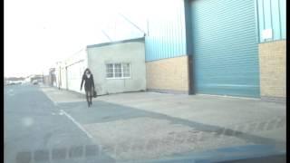 Outdoor Street Walking Transvestite Business Woman In 6