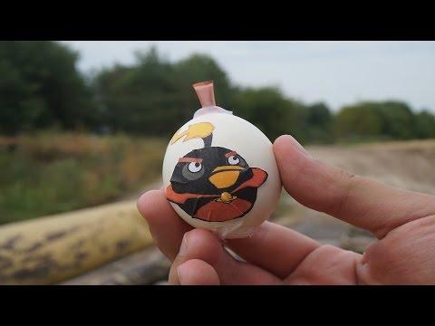 ✓ Angry Birds Бомба ! Как сделать бомбу из куриного яйца ?