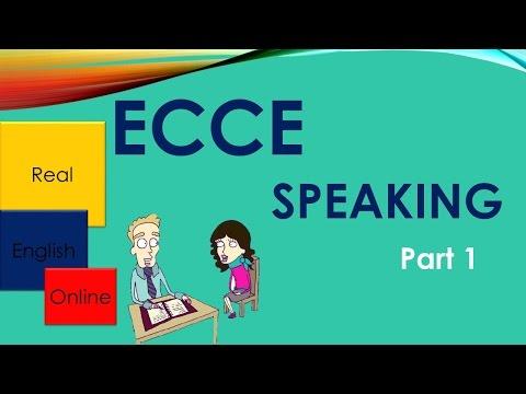 ECCE Speaking,Part 1 TIPS -Michigan