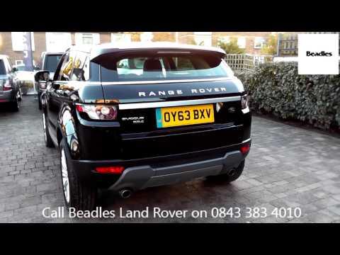 Beadles Barolo Black 2013 Land Rover Range Rover Evoque Prestige Lux 2.2l