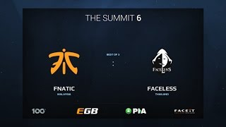 Fnatic vs Faceless, Game 1, The Summit 6 Qualifiers, SEA