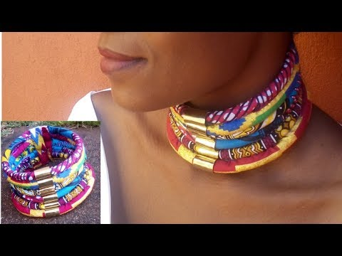 DIY African Print- Neck Ropes (1 piece) Beautarie