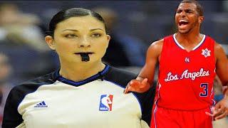 Video RACIST ANTI-BLACK female referee Lauren Holtkamp vs SEXIST ANTI-FEMINIST Chris Paul WOW! MP3, 3GP, MP4, WEBM, AVI, FLV Juli 2019