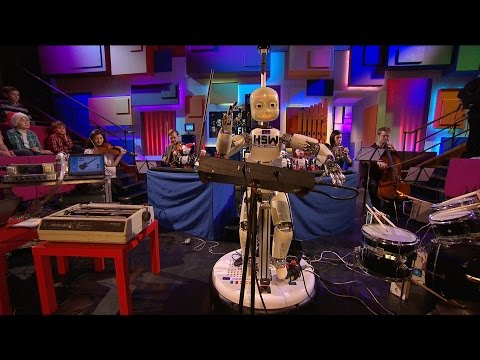 Robot Orchestra Plays Doctor Who Theme Tune, Theremin Included