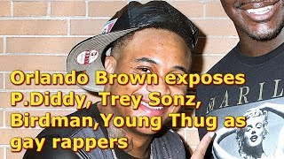 Orlando Brown Airing out gay rappers ... P. Diddy, Trey Songz, Birdman, Young Thug