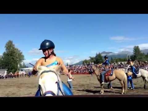 Rockin' B Riding Club Trick Riding Team, Alaska State Fair, 2013.