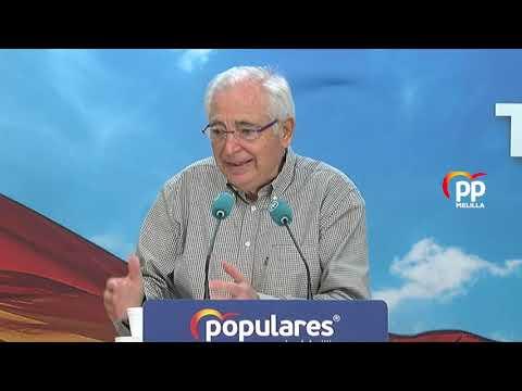 """Imbroda: """"El Partido Popular no puede votar a favor de unos Presupuestos que hipotecarán a Melilla"""""""