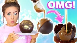 Video DIY Crazy Huge Edible Melting Chocolate Ball Tested! Disaster! MP3, 3GP, MP4, WEBM, AVI, FLV Juli 2018