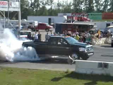 Dodge dually burnout