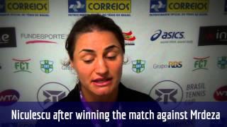 Monica Niculescu vai às quartas de final do Brasil Tennis Cup