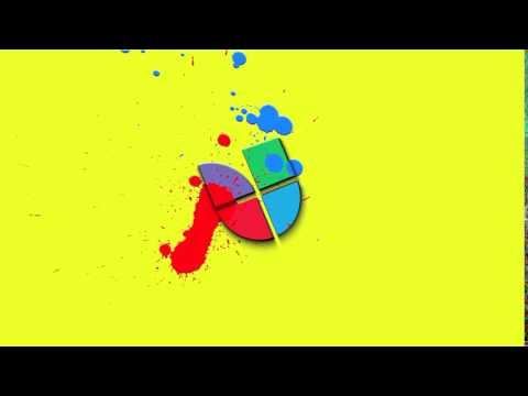Univision logo, paint splatter