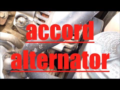 DIY How to replace install alternator 2000 Honda Accord