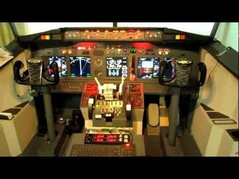 home made 737-800 cockpit