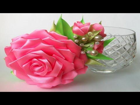 Канзаши роза своими рукам