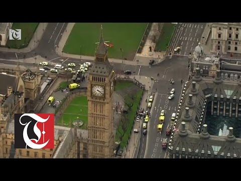 London police say they are responding to a firearms incident near the UK Parliament in the city's Westminster district.