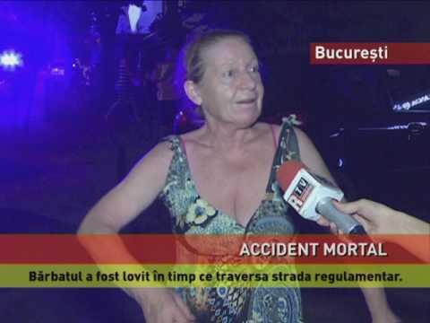 Pieton mort într-un accident produs în București