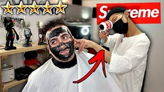 """Video I Went To The Best Reviewed HYPEBEAST Barber In My City!! *SUPREME HAIR DRYER"""" 