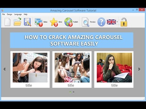 how to crack Amazing Carousel Software easily