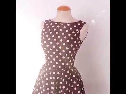 1950's Pin up style polka dots rockabilly dress