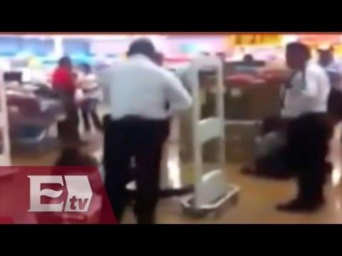 """Esposan a """"ladrona"""" en supermercado de Saltillo"""