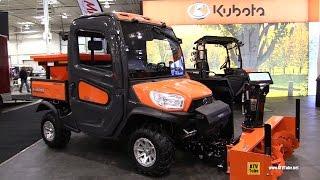 9. 2017 Kubota RTV X1100 C Diesel Utility ATV with Snow Blower and Salt Dispencer - Walkaround
