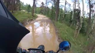 8. Kawasaki KLR250 trail riding in the Rocky Mountains