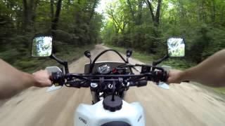 3. Suzuki Dr650 fast dirt road run
