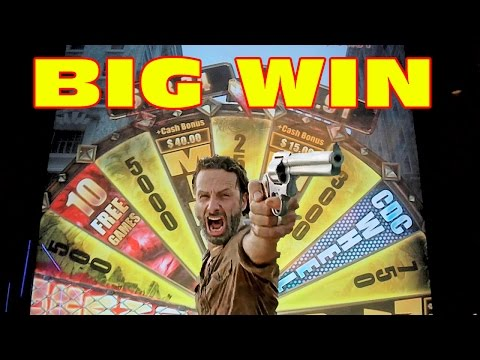 The Walking Dead * BIG WIN * Slot Machine Bonus DOUBLE FEATURE