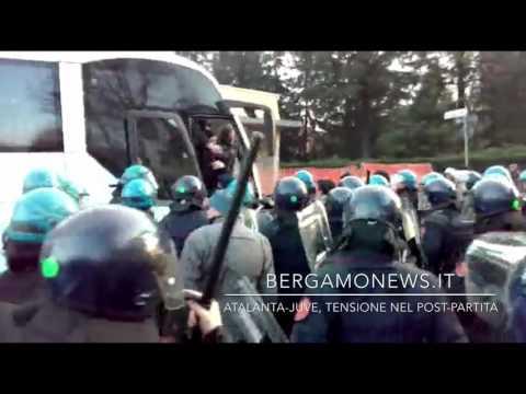 Atalanta-Juve, tensione tra ultrà bianconeri e polizia