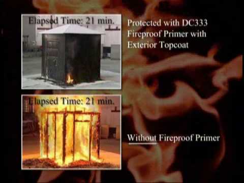 Fire Proof Intumescent Paint  over Spray Foam