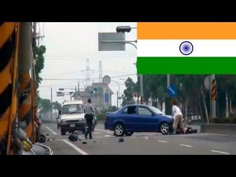 Подборка автомобильных аварий, Индия