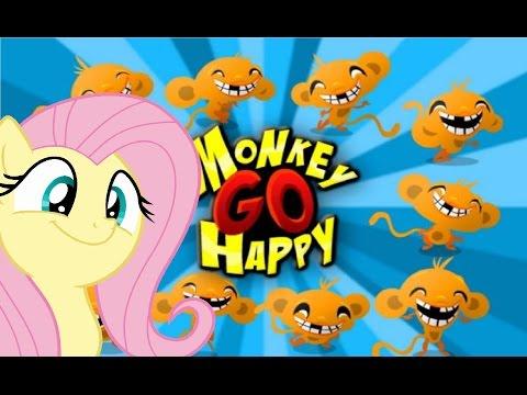 I WILL MAKE YOU HAPPY! | Fluttershy Play's; Monkey GO Happy