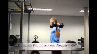 Exercise Index: Standing Shoulderpress (Neutral Grip)