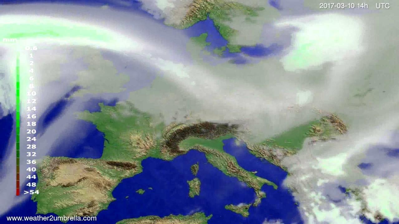 Precipitation forecast Europe 2017-03-06