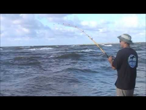 Bull Redfish Caught While Surf Fishing – Texas Sept 2013