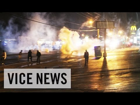 Raw - Subscribe to VICE News here: http://bit.ly/Subscribe-to-VICE-News VICE News was live from the St. Louis suburb of Ferguson, Missouri, where protests over the August 9 police killing of unarmed...