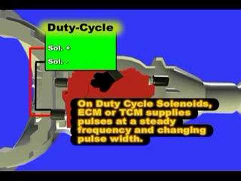 transmission pressure solenoid - Transmission Shift Solenoid Explains the Shift Solenoid testing. Modern transmission use a specific combination of shift solenoid ON position the perform the...